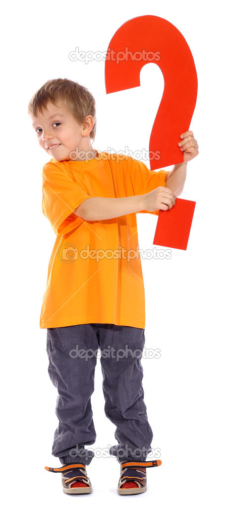Question mark boy - See all letters in my Portfolio — Stock Photo #3002649