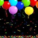 sfondo di palloncini festa — Vettoriale Stock