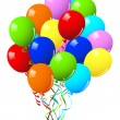 Celebration or birthday Party balloons — Vector de stock