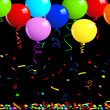 Party balloons background — Stockvectorbeeld