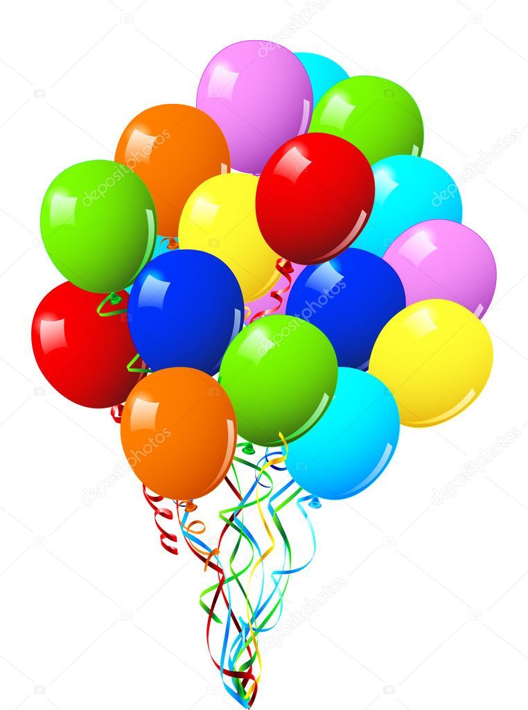 Celebration or birthday Party balloons — Stock Vector © Halina