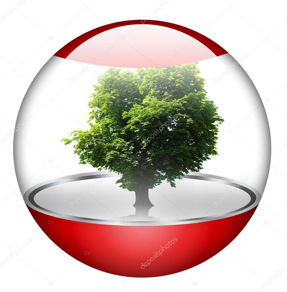Green concept. Don't forget the global warming.  Stock Photo #3052650