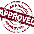Office stamp with the word approved - Imagen vectorial