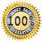 Money back label — Stock Vector