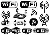 Vector collection of wi-fi symbols — Vettoriale Stock