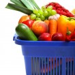 Stock Photo: A shopping basket full of fresh produce