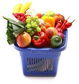 A shopping basket full of fresh produce — Stock Photo