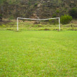Soccer goal posts — Stock Photo