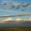 Clouds over Johannesburg skyline — Stock Photo