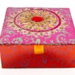 Stock Photo: Square red jewellery box
