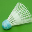 Plastic shuttlecock for badminton — Stock Photo