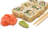 Sushi rolls in group — Stock Photo