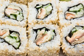 Sushi rolls closeup — Stock Photo