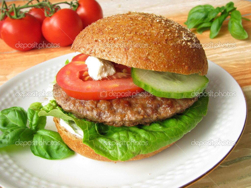 Home-made Burger  Stock Photo #2975726