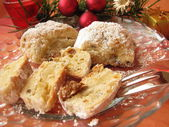 Little christmas stollen – Stollenkonfek — Stock Photo