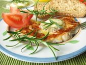 Grilled chicken filet with rosemary-butt — Stock Photo