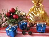 Christmassy presents — Stock Photo