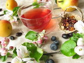 Fruit tea – Früchtetee — Stock Photo