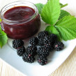 Homemade blackberry jelly — Stock Photo