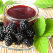 Stock Photo: Homemade blackberry jelly