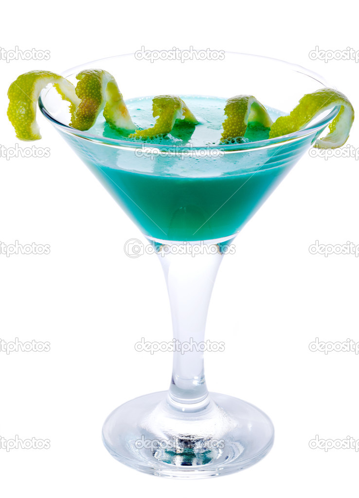 Blue Lagoon Cocktail isolated on white — Stock Photo #2737579