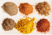 Variety of crushed spices. — Stock Photo