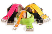Belts. Isolated — Stock Photo