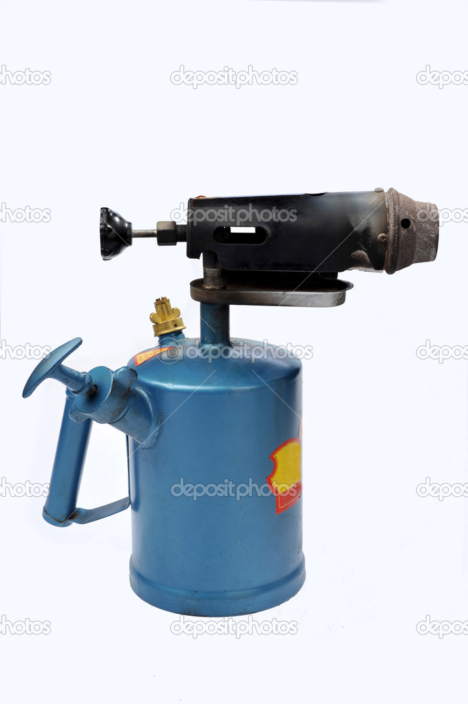 A blue blowtorch on a white background — Stock Photo #2737897