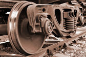 Train wheel — Stock Photo
