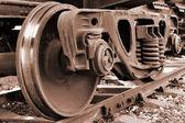Trein wiel — Stockfoto