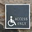 Wheelchairs access — Stock Photo