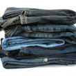 Pile of jeans — Stock Photo