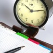 Planner and clock — Stock Photo #3677168