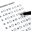 Answer sheet — Stock Photo