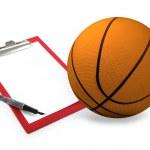 Basketball coach set — Stock Photo