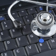 Stock Photo: Laptop and stethoscope