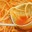 Tomato soup close-up — Stock Photo