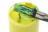 Dirty paintbrush — Stock Photo