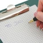 Hand writing TO DO list — Stock Photo
