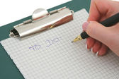 Hand writing TO DO list — Stock Photo