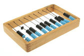 Old abacus on white — Stock Photo