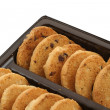 Cookie rows — Stock Photo