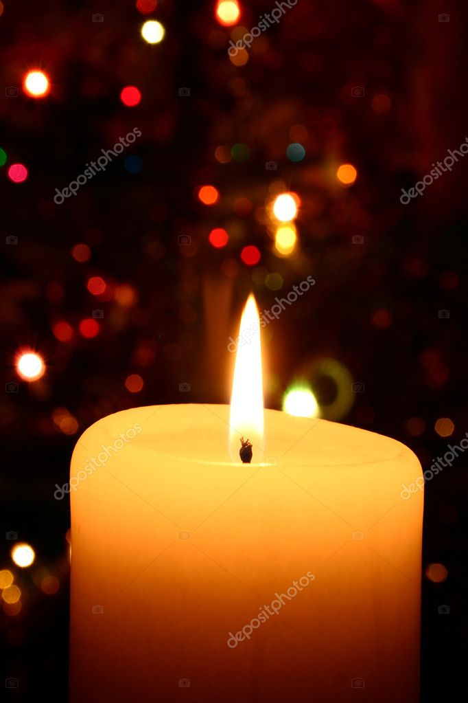 Christmas candle — Stock Photo #3063191