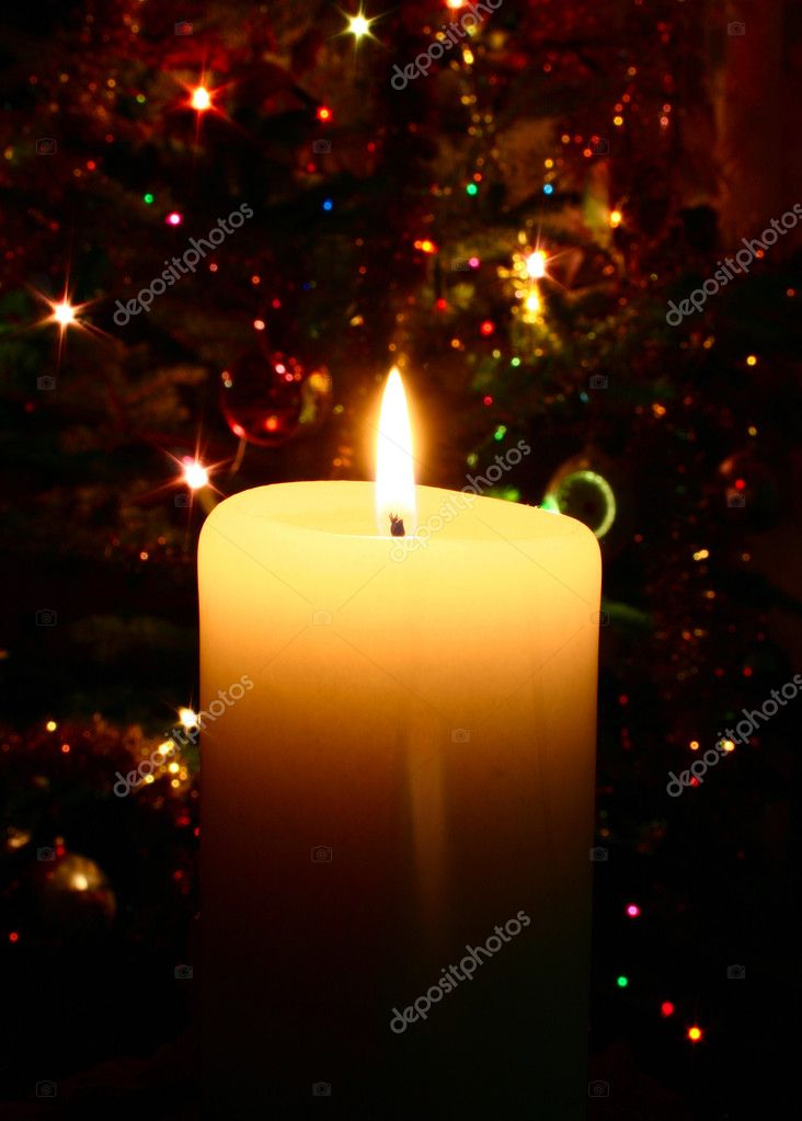Christmas candle — Stockfoto #3063196