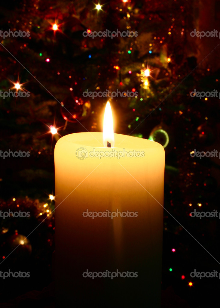 Christmas candle  Zdjcie stockowe #3063196