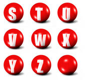 Alphabet made of red 3D spheres — Stock Photo