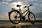 End of a bike trip — Stock Photo
