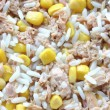 Stock Photo: Rice corn and tuna