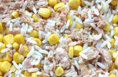 Rice corn and tuna — Stock Photo