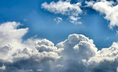 Cloudy sky panorama — Stock Photo